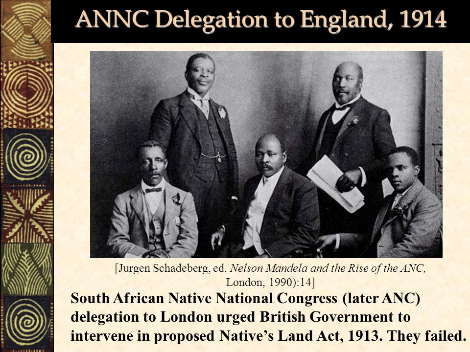 ANNC Delegation to England, 1914
