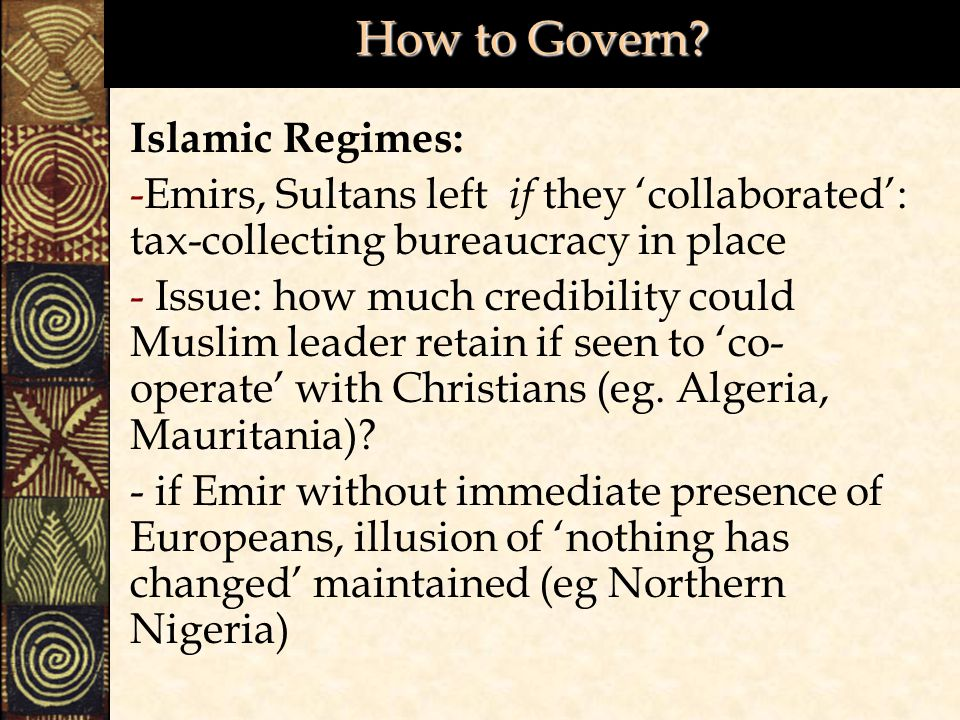 How to Govern Islamic Regimes:
