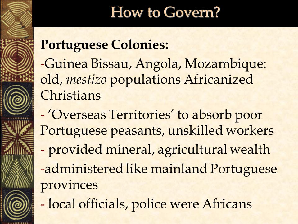How to Govern Portuguese Colonies: