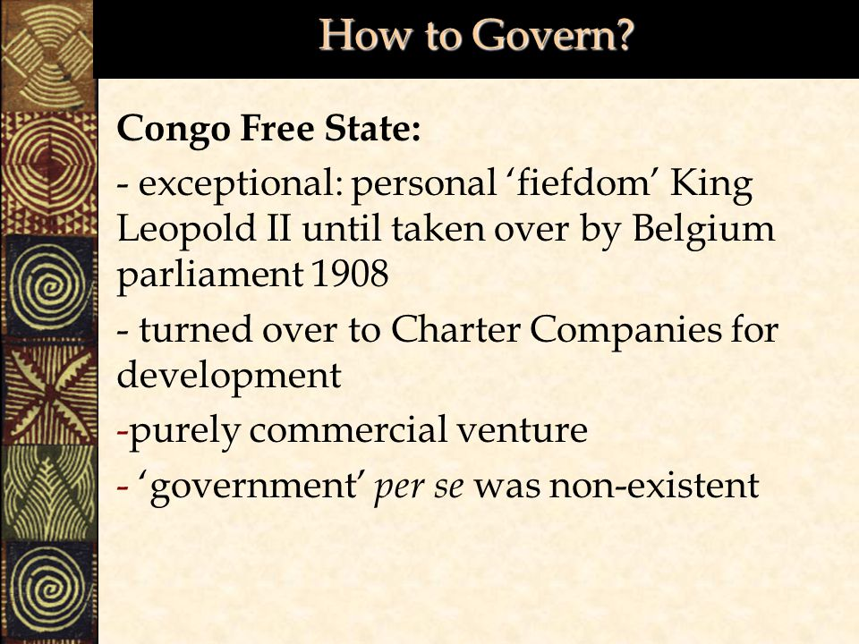 How to Govern Congo Free State:
