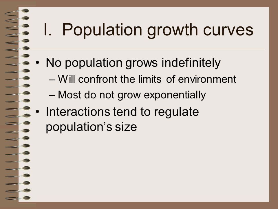I. Population growth curves
