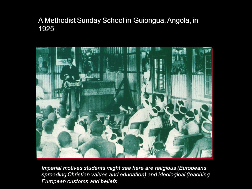 A Methodist Sunday School in Guiongua, Angola, in 1925.