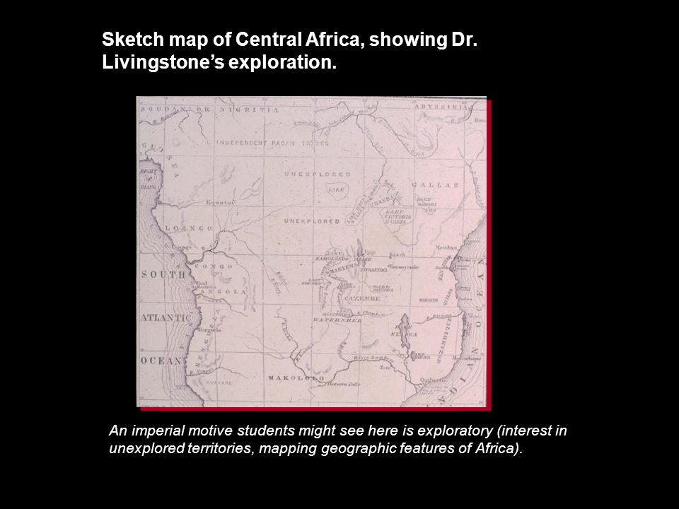 Sketch map of Central Africa, showing Dr. Livingstone's exploration.