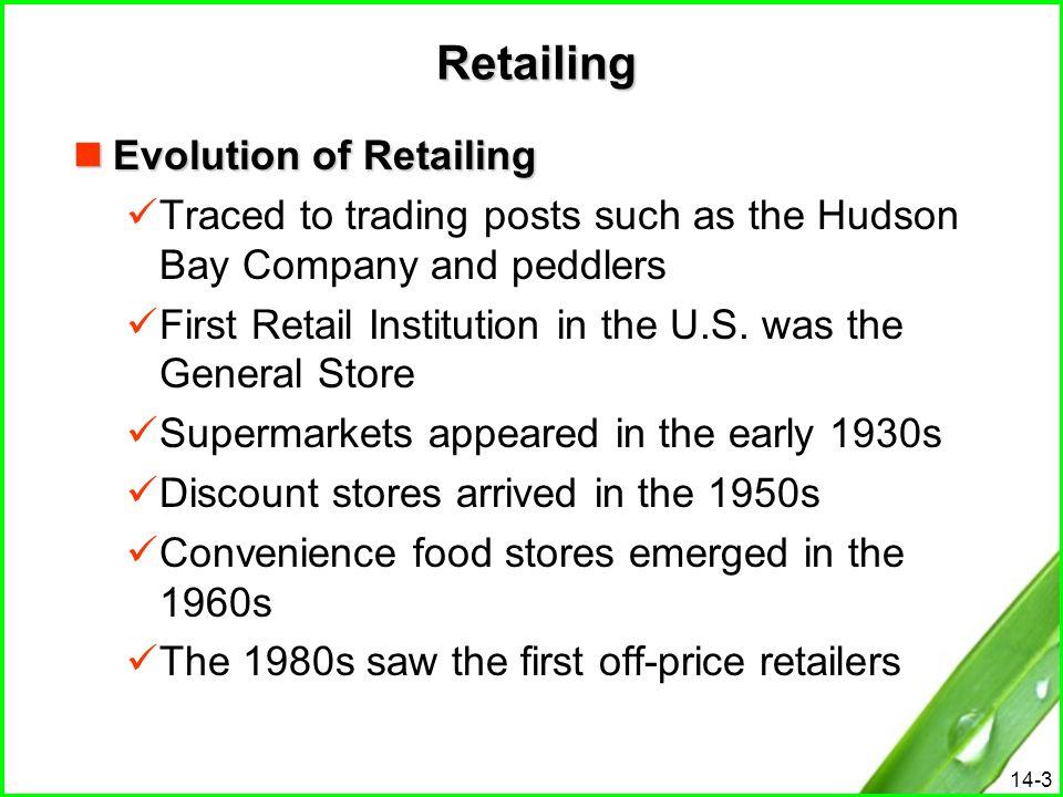 Retailing Evolution of Retailing