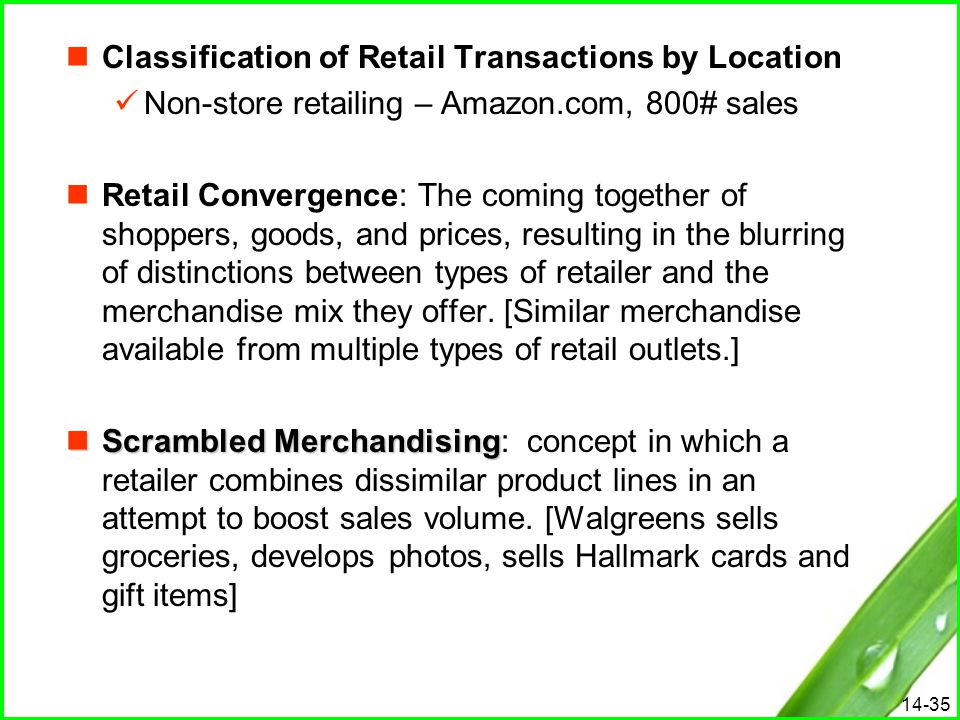 Classification of Retail Transactions by Location
