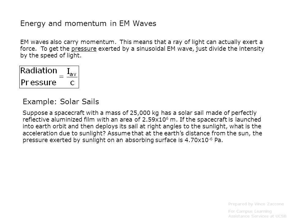 Energy and momentum in EM Waves