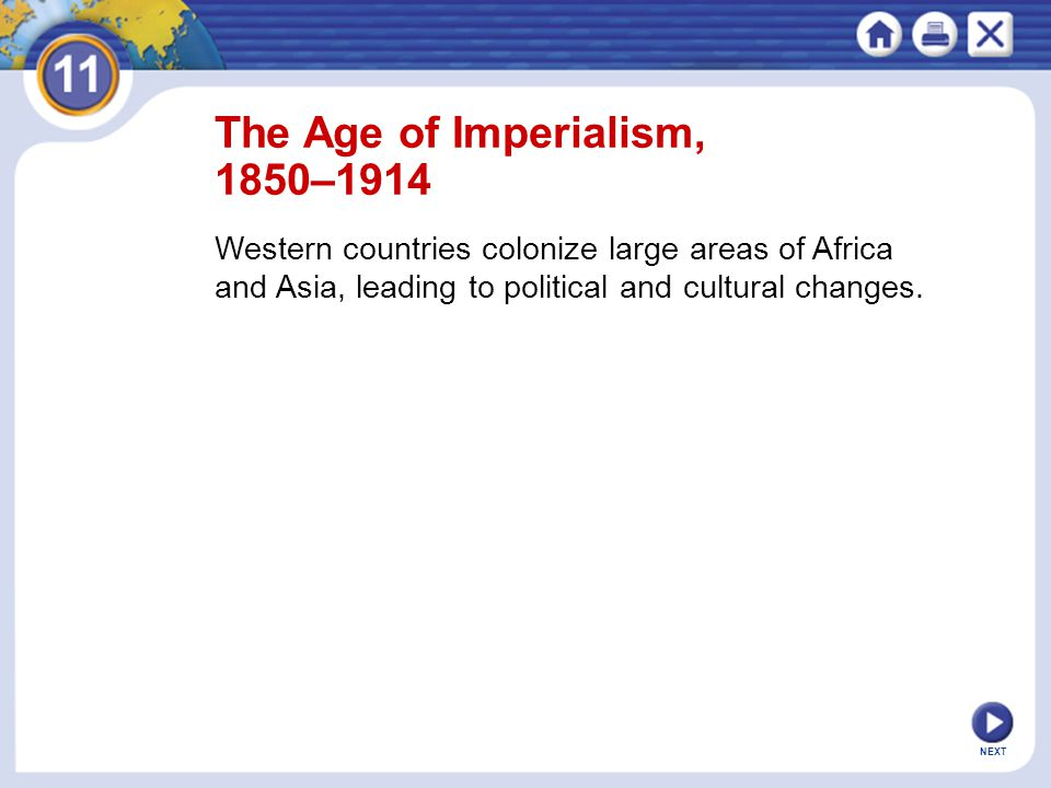 The Age of Imperialism, 1850–1914