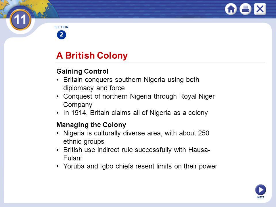 A British Colony Gaining Control