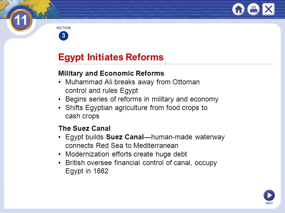 Egypt Initiates Reforms