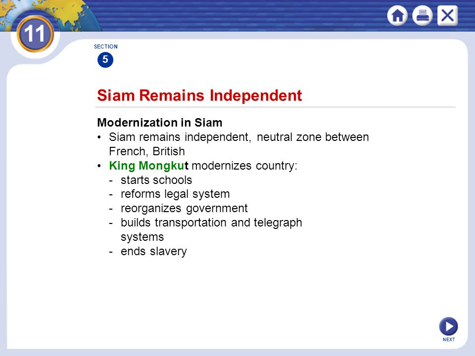 Siam Remains Independent