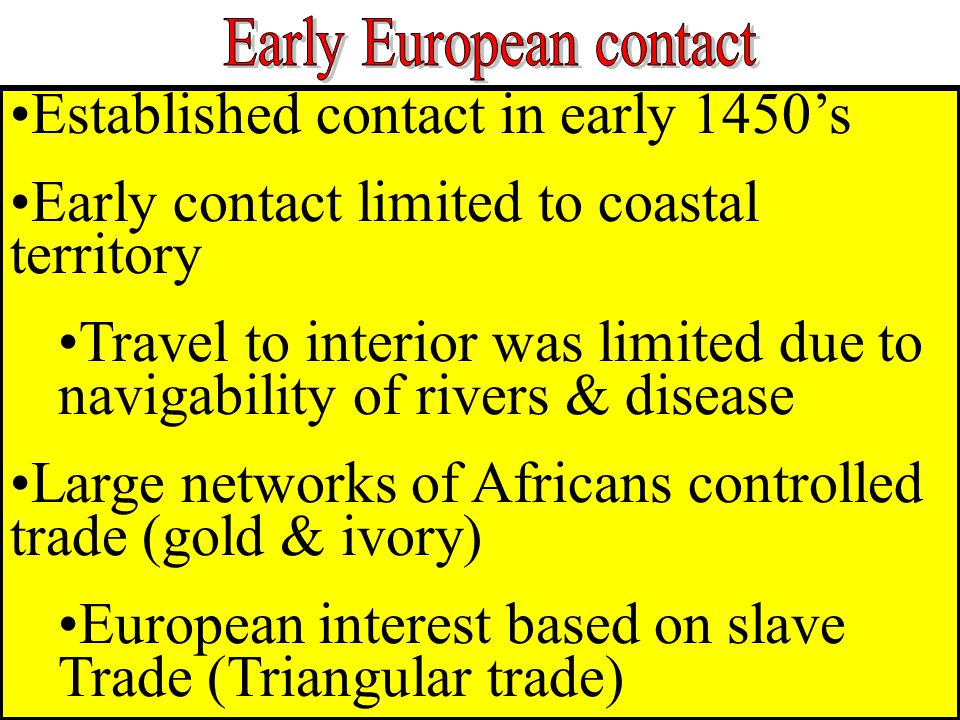 Early European contact