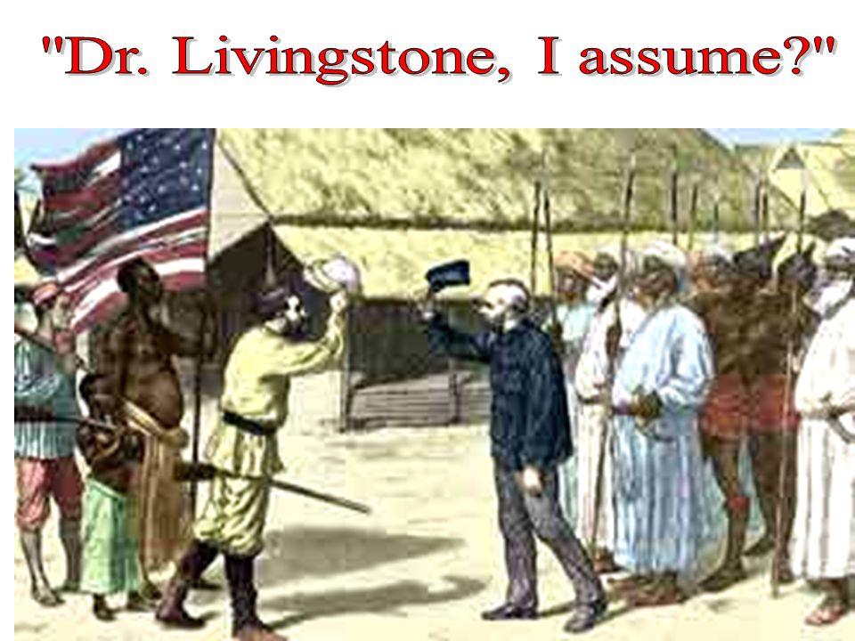 Dr. Livingstone, I assume