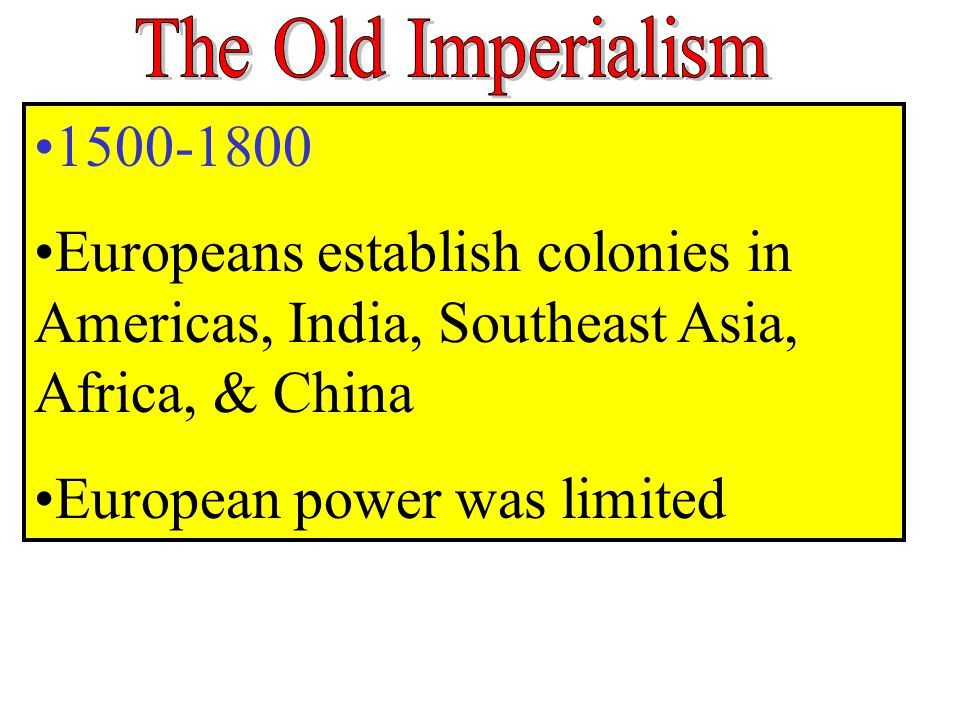 European power was limited
