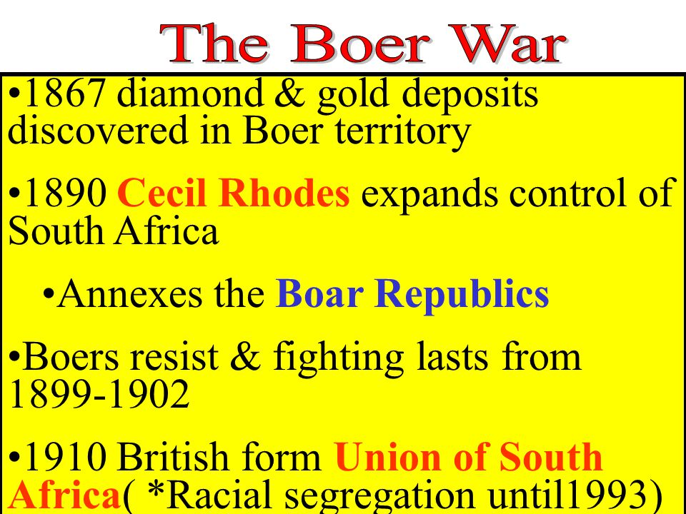 1867 diamond & gold deposits discovered in Boer territory