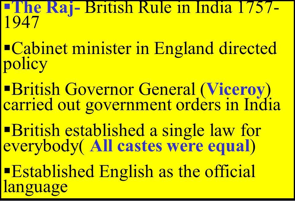 The Raj- British Rule in India 1757-1947