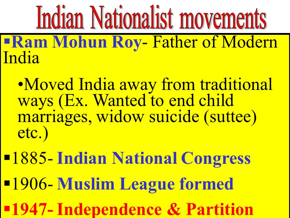 Indian Nationalist movements
