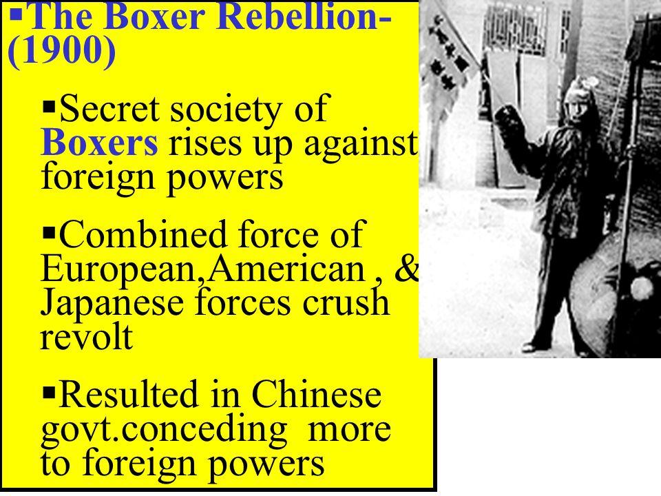 The Boxer Rebellion- (1900)