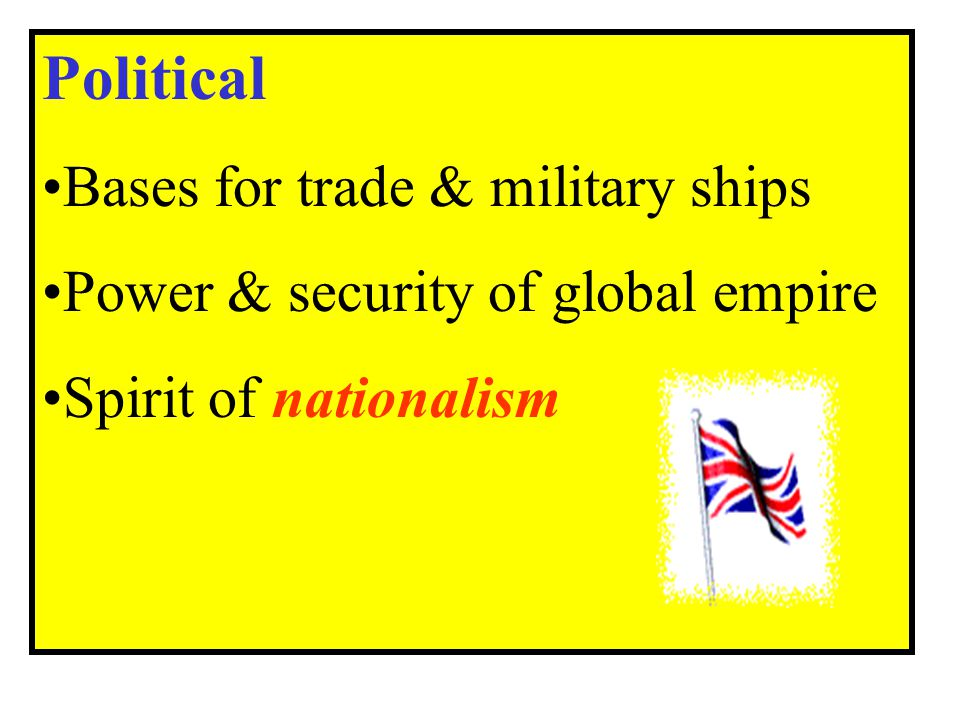 Political Bases for trade & military ships