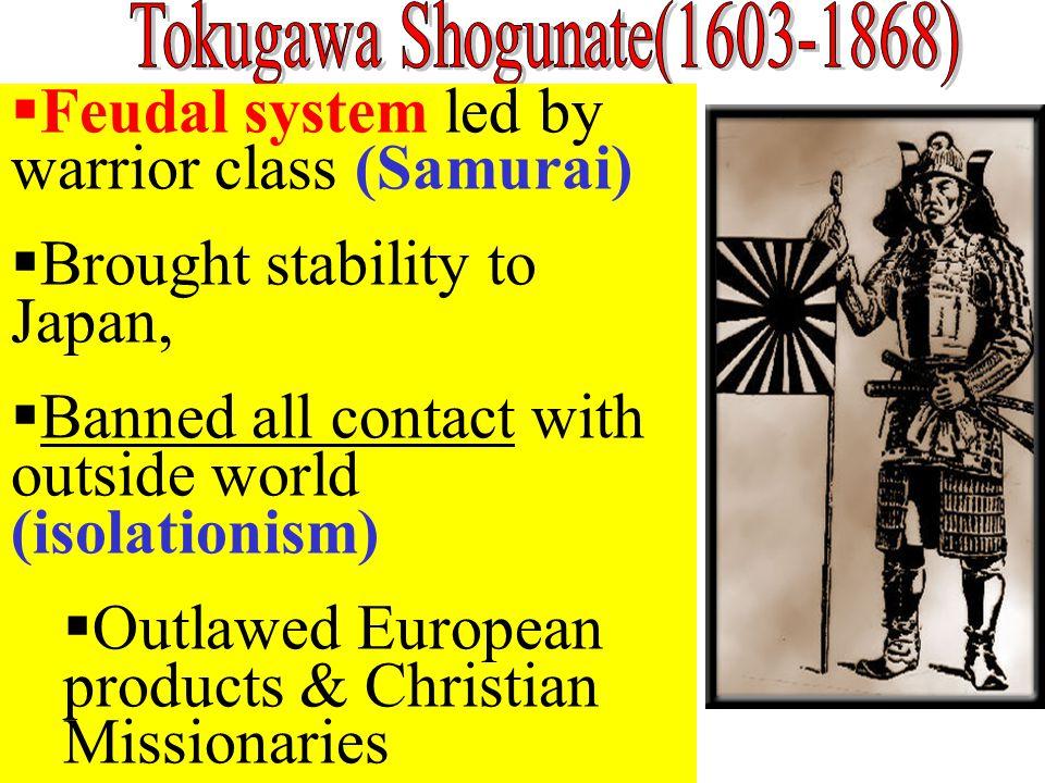 Tokugawa Shogunate(1603-1868)