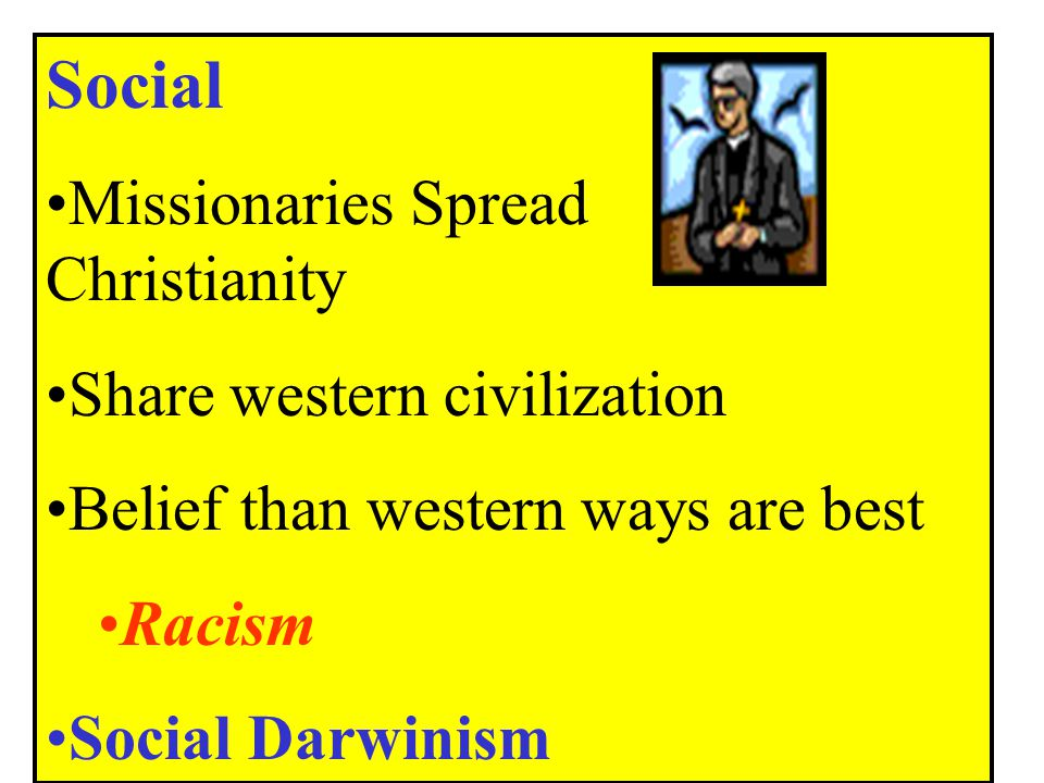 Social Missionaries Spread Christianity Share western civilization