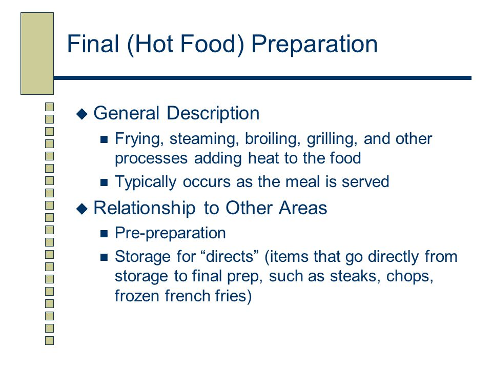 Final (Hot Food) Preparation
