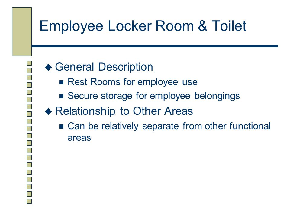 Employee Locker Room & Toilet