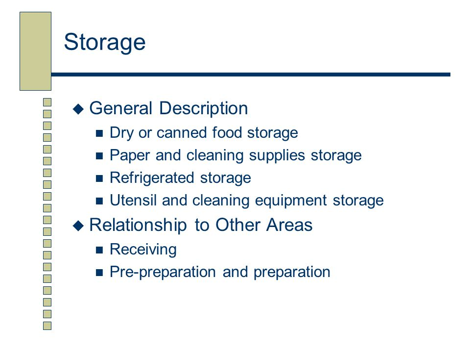 Storage General Description Relationship to Other Areas