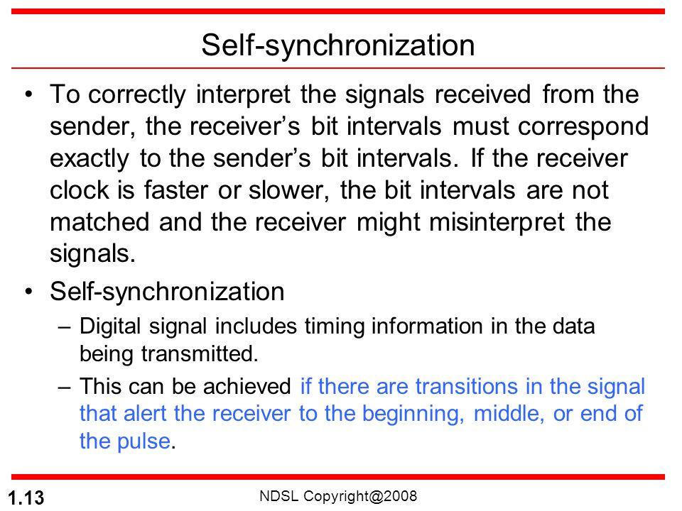 Self-synchronization