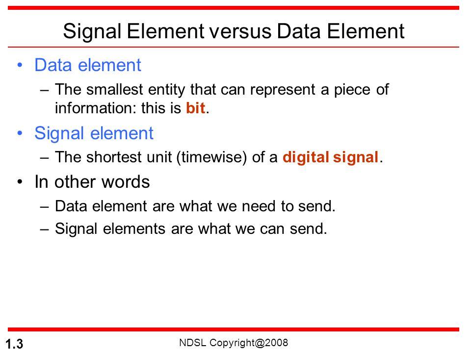Signal Element versus Data Element