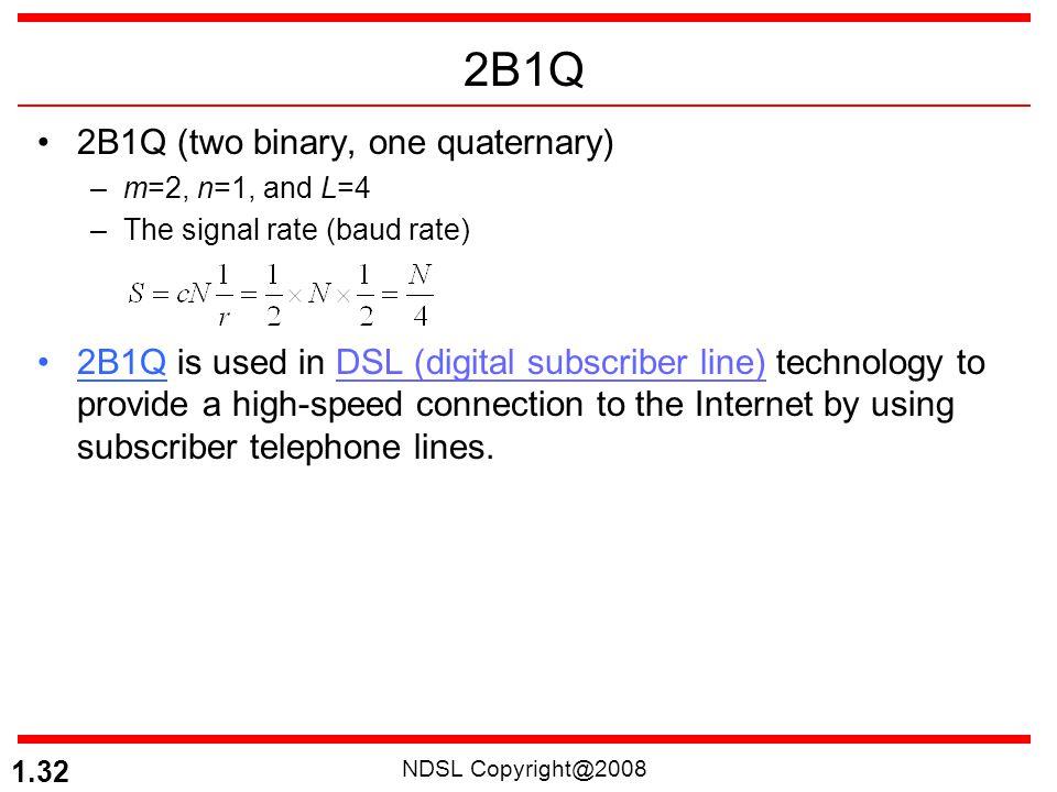 2B1Q 2B1Q (two binary, one quaternary)
