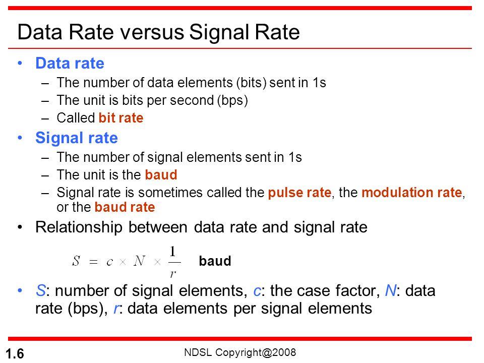 Data Rate versus Signal Rate