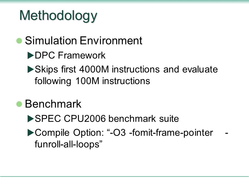 Methodology Simulation Environment Benchmark DPC Framework