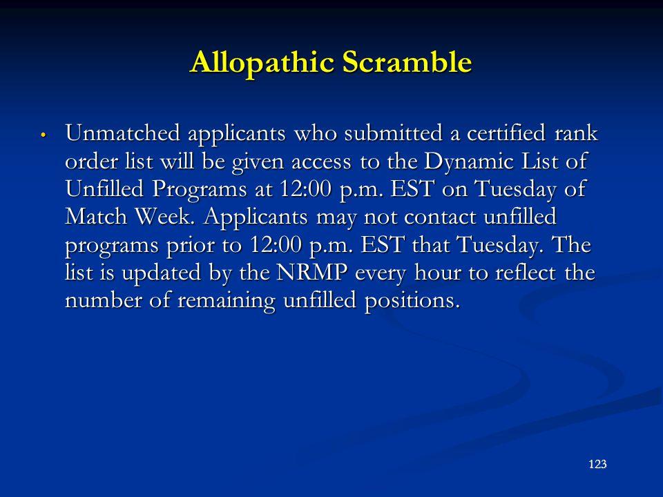 Allopathic Scramble