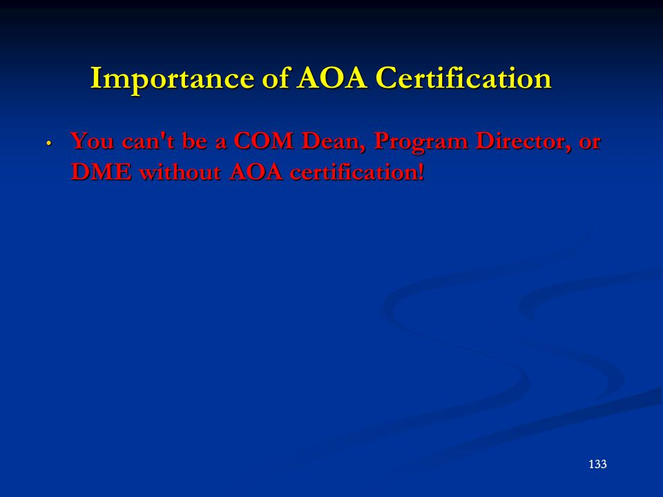 Importance of AOA Certification