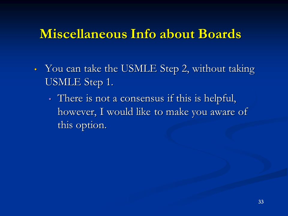 Miscellaneous Info about Boards