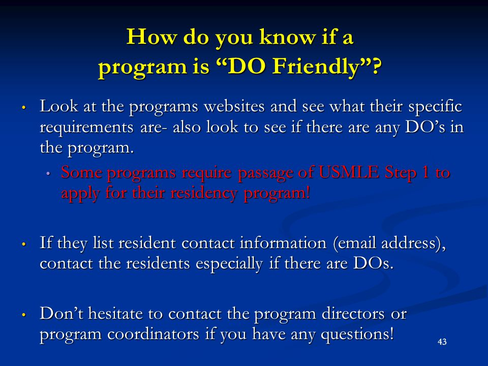 How do you know if a program is DO Friendly