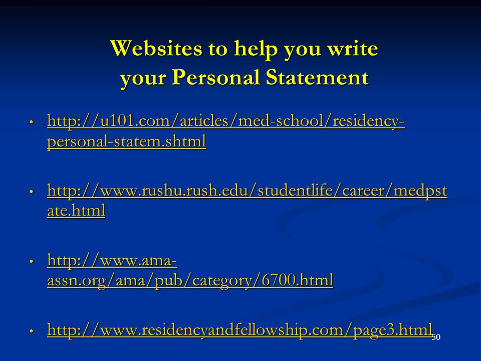 Websites to help you write your Personal Statement