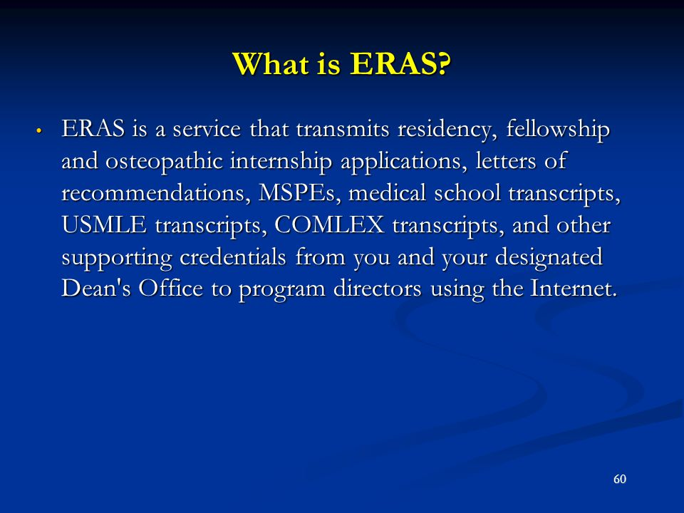 What is ERAS