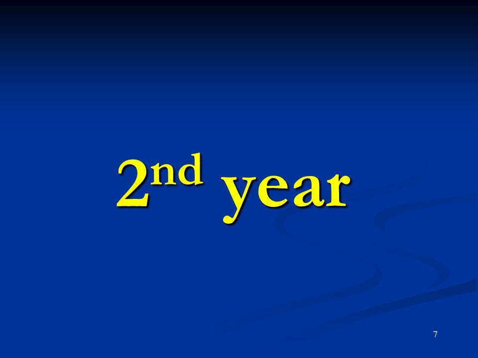 2nd year 7 7