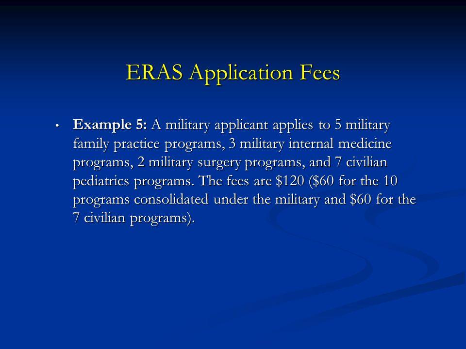 ERAS Application Fees