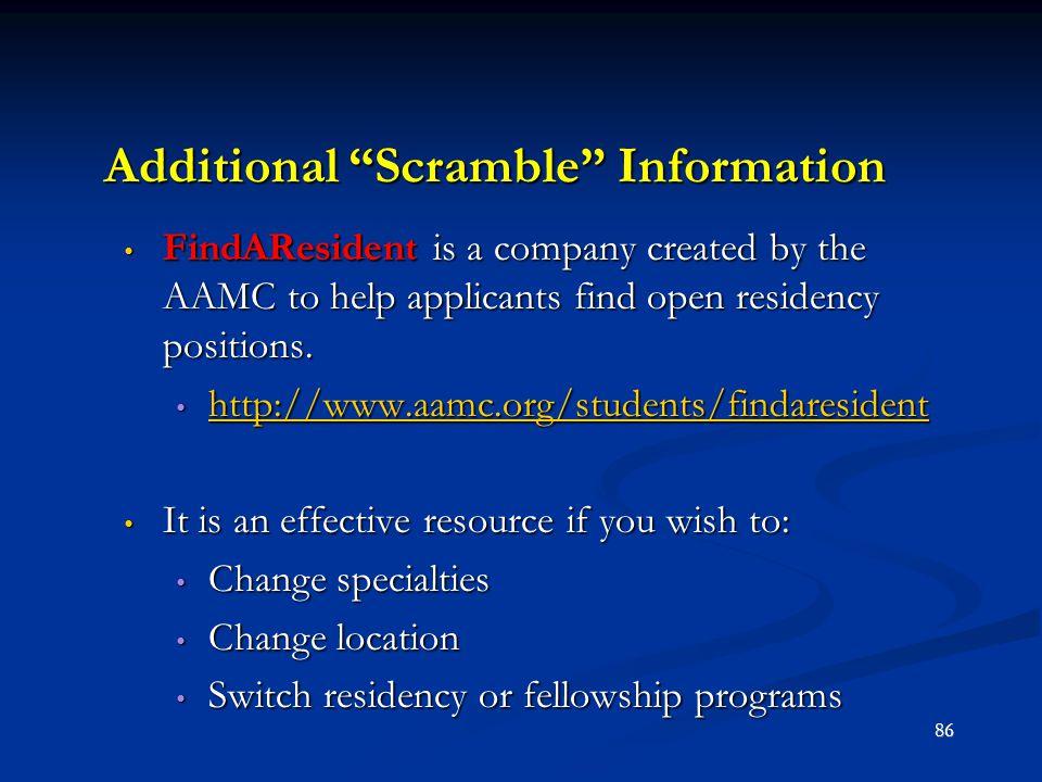 Additional Scramble Information