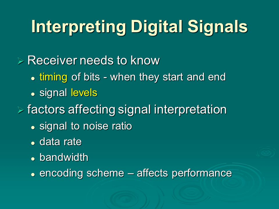 Interpreting Digital Signals