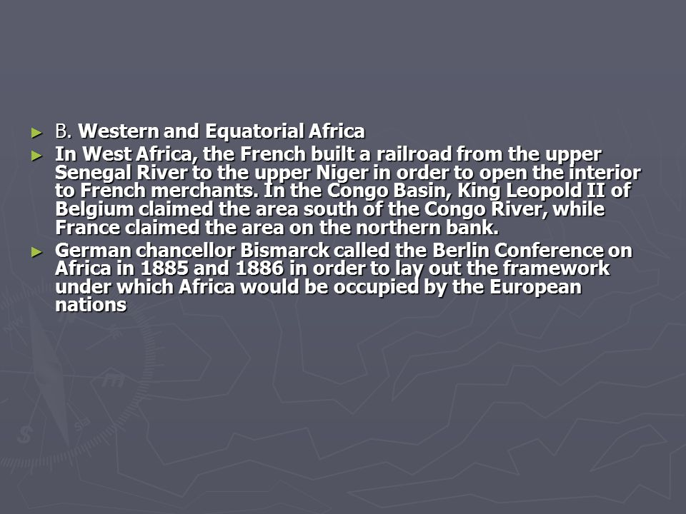 B. Western and Equatorial Africa