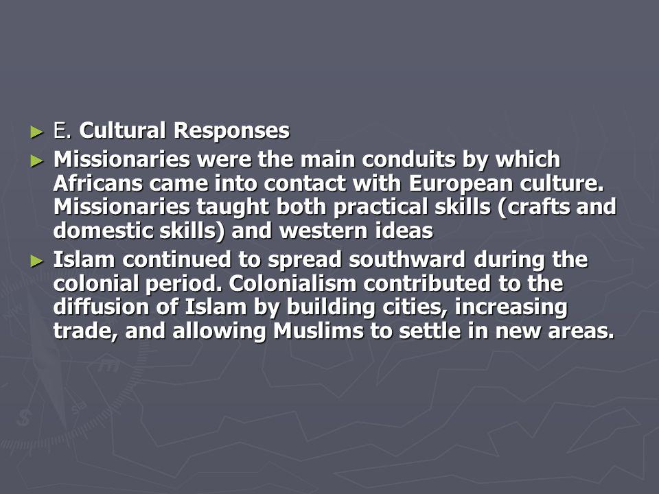 E. Cultural Responses