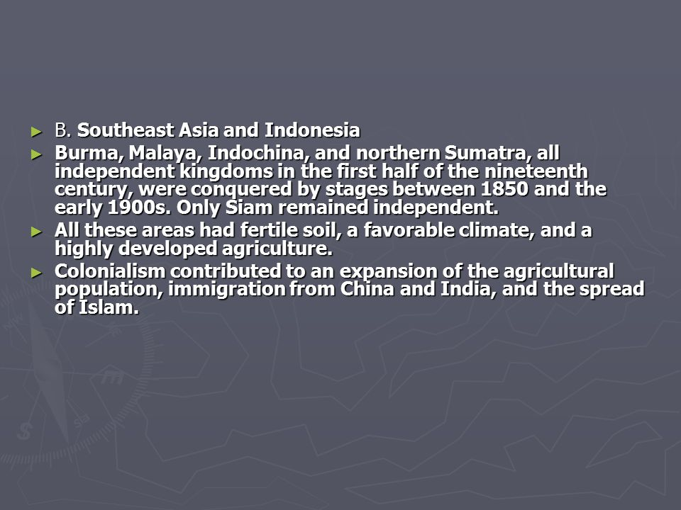 B. Southeast Asia and Indonesia