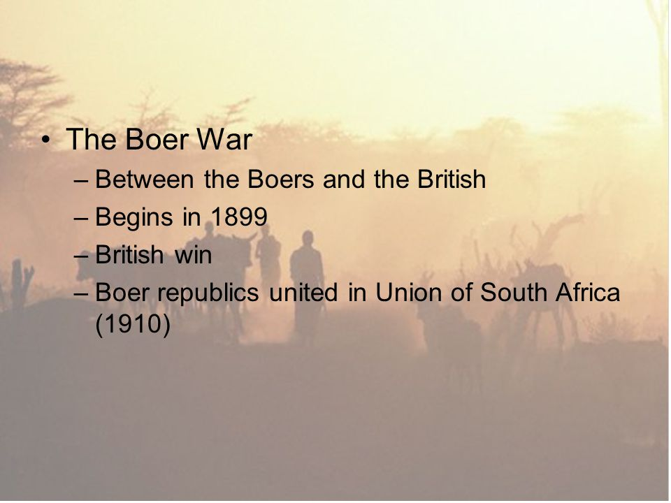 The Boer War Between the Boers and the British Begins in 1899