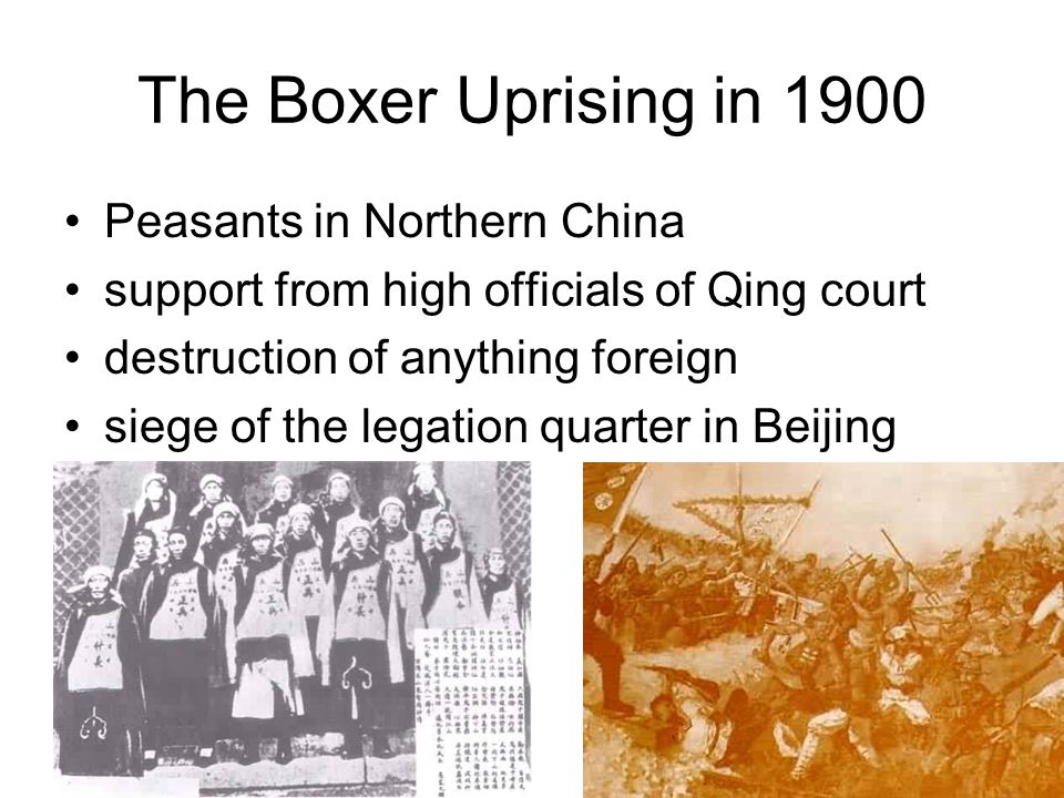 The Boxer Uprising in 1900 Peasants in Northern China