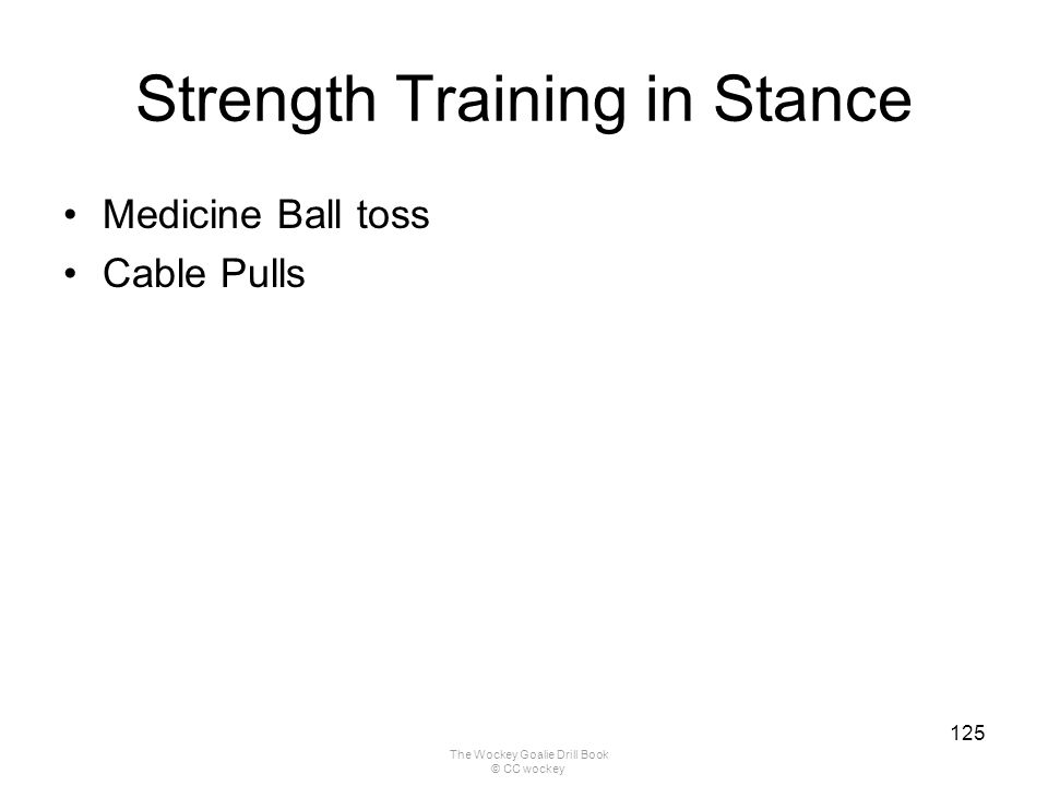 Strength Training in Stance