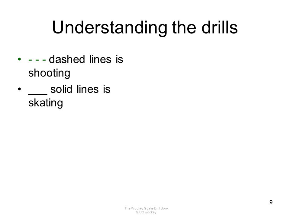 Understanding the drills