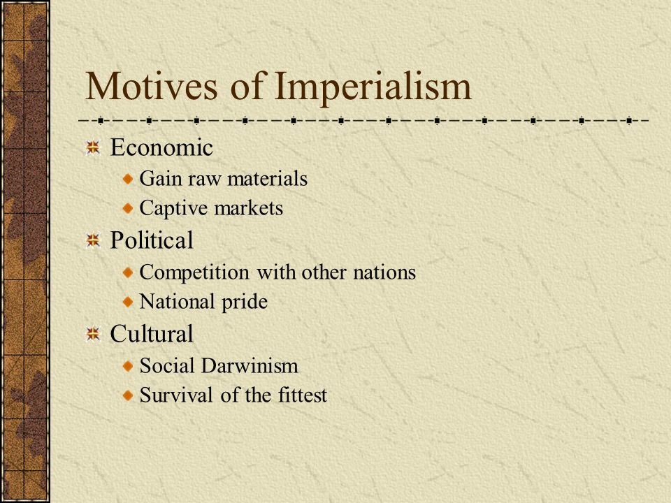 Motives of Imperialism